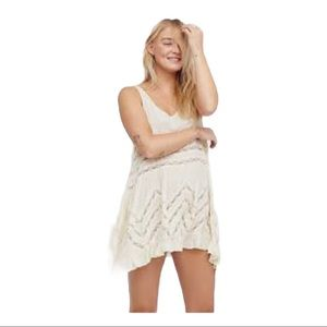 Voile Lace Trapeze Slip Free People Intimately XS